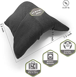 Kussen Scarf Pillow for Airplane Travel Neck Support - Wrap-Around Scarf, Portable & Machine Washable - Soft, Adjustable & Ultralight, for Nap or Long Haul Sleep - Scientifically Proven (Grey)