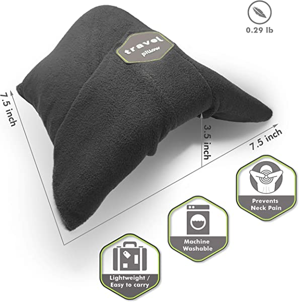 Kussen Scarf Pillow For Airplane Travel Neck Support Wrap Around Scarf Portable Machine Washable Soft Adjustable Ultralight For Nap Or Long Haul Sleep Scientifically Proven Grey
