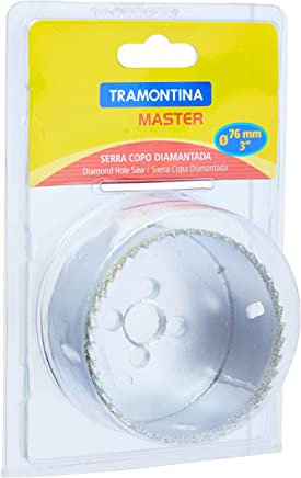 Tramontina 42626076, Serra Copo Diamantada 76Mm 3, Corpo Aço Especial, Dentes Metal Duro, Rosca 1/2''