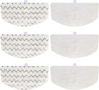 iSingo 6 Pack Steam Mop Pads Compatible Bissell PowerFresh 1806 1940 1544 1440 2075A Series, Replacement Part Model #5938#203-2633