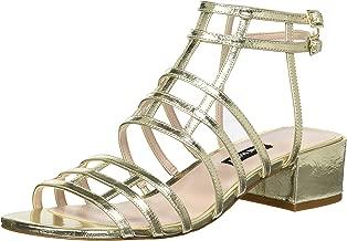 NINE WEST Women's Xerxes Metallic Heeled Sandal
