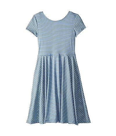 fiveloaves twofish Capri Skater Dress (Big Kids) (Blue) Girl