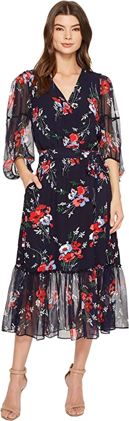 LAUREN Ralph Lauren - Floral Georgette Midi Dress