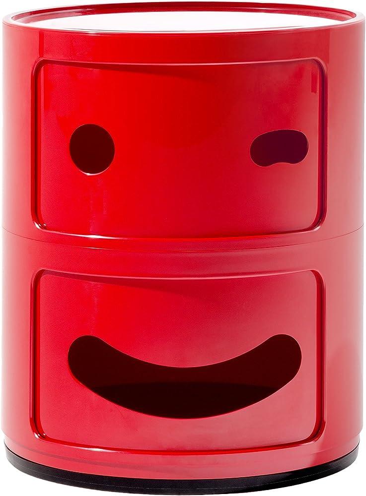 Kartell componibile smile contenitore occhiolino , rosso 0492610