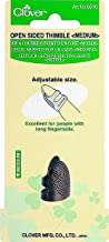 Clover Metal Open-Sided Thimble, Medium
