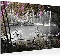 Pictures waterval muurschildering 60 x 40 cm stof - doek foto XXL-formaat muurschilderingen home decor Prints - Made in Ge...