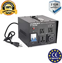 1500W Auto Step Up & Step Down Voltage Transformer Converter, ST-Pro Series Heavy-Duty AC 110/220V Converter with US Standard, Universal, Schuko AC Outlets & DC 5V USB Port by Goldsource