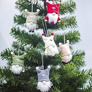 lofekea Christmas Gnomes,Handmade Swedish Plush Gnomes,6 Pack Santa Gnome,Christmas Tree Hanging Ornaments,Figurines Chris...