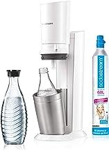 SodaStream CRYSTAL 2,0 glaskaraporer vattenbubblor för blåsor kranvatten, med diskmaskinssäker glasflaska för bubbelvatten...