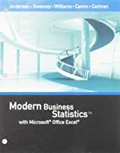 Bundle: Modern Business Statistics with Microsoft Office Excel, Loose-Leaf Version, 6th + MindTap V2.0 Business Statistics, 1 term (6 months) Printed Access Card