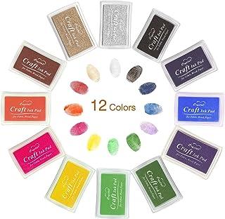 Mture Almohadilla Tinta para Sello Tampón,12 colores