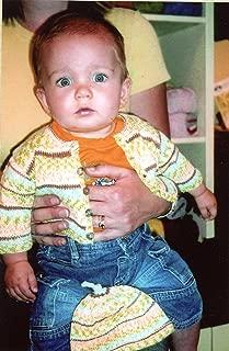 Sock It To Me Baby - Black Purl Knitting Pattern #K5 Cardigan & Hat Newborn - 2 Years