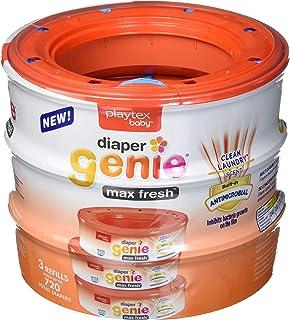 Diaper Genie Max Fresh Clean Laundry Scent Diaper Disposal Pail Refills, Pack Of 3
