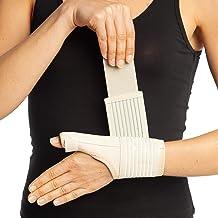 Soporte de muñeca para pulgar de Quervain Brace Beige Férula del dolor Spica Estabilizador Médico NHS Esguince