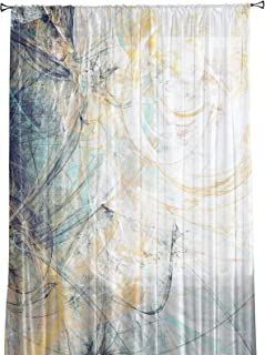Infinidesign Abstract Print Sheer Curtain, Light Filtering Window Treatment, Drapes Panels for Resturant, Hotel, Guest Roo...