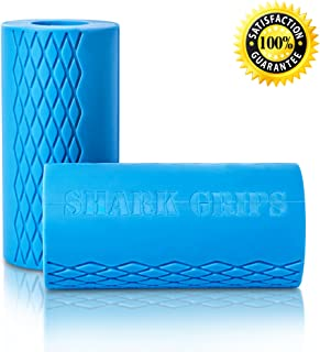 Thick Bar Grips XT Turns Barbell, Dumbbell, and Kettlebell Into Grips for Fat Bar Training For Muscle Growth. Strengthen Forearm/Bicep/Tricep/Chest. Crossfit/Weight Training/Bodybuilding/Strongman/WOD