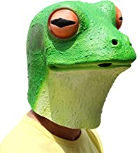 PartyHop - Frog Mask - Halloween Costume Latex Animal Full Head Latex Adult Kids Mask