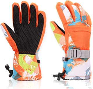 Ski Gloves, Yidomto Waterproof Warmest Winter Snow Gloves for Mens, Womens, Boys, Girls, Kids