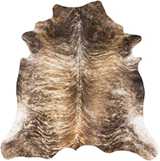 RODEO Superior Brindle Cow Skin Cowhides Rug Large Size