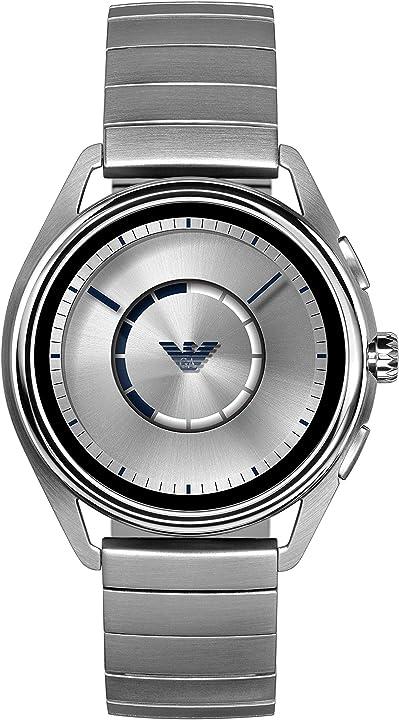 emporio armani orologio digitale uomo con cinturino in acciaio inox art5006
