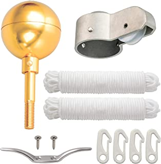 """Deneve Flag Pole Parts Kit Includes: 3"""" Gold Topper Ball 