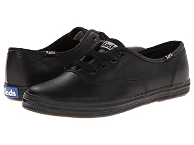 Keds Champion-Leather CVO (Black Leather) Women