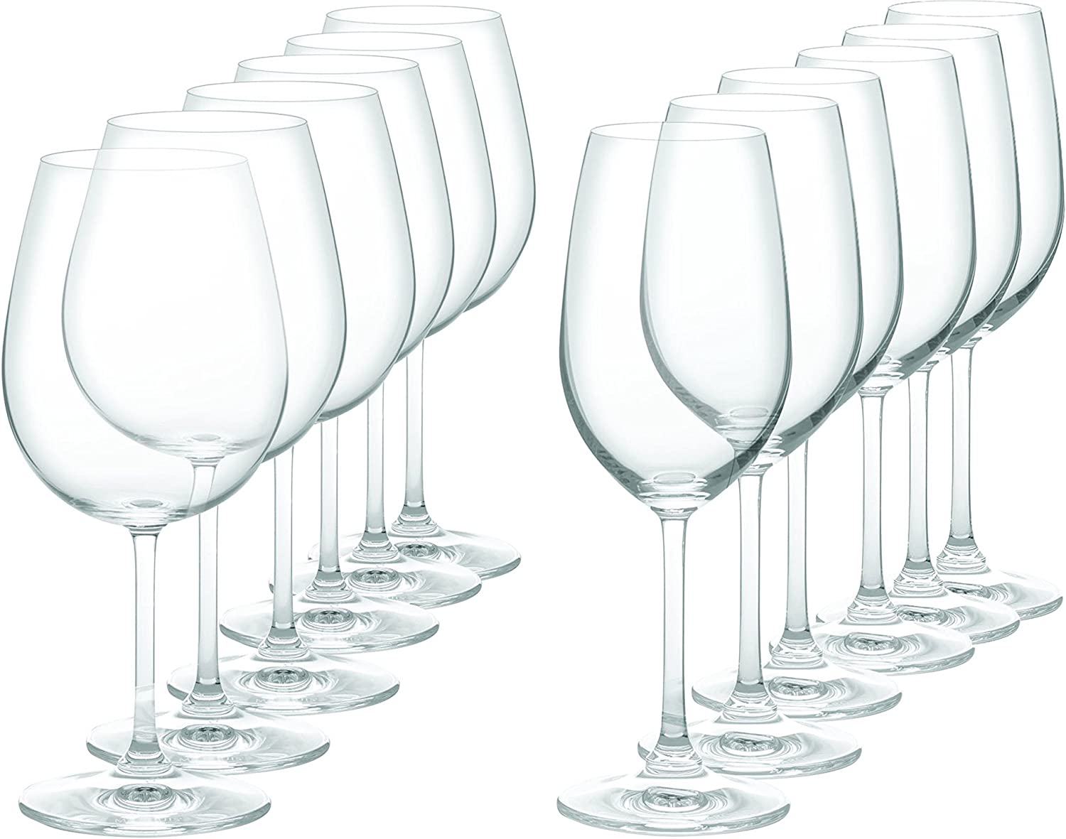 Marquis by Waterford 40005589 Vintage Wine Glasses, Set of 12, Clear