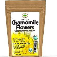 Chamomile Tea 1LB (16Oz) 100% CERTIFIED Organic (USDA seal) Chamomile Flowers Herbal Tea (Matricaria Chamomilla) in 1 lb B...