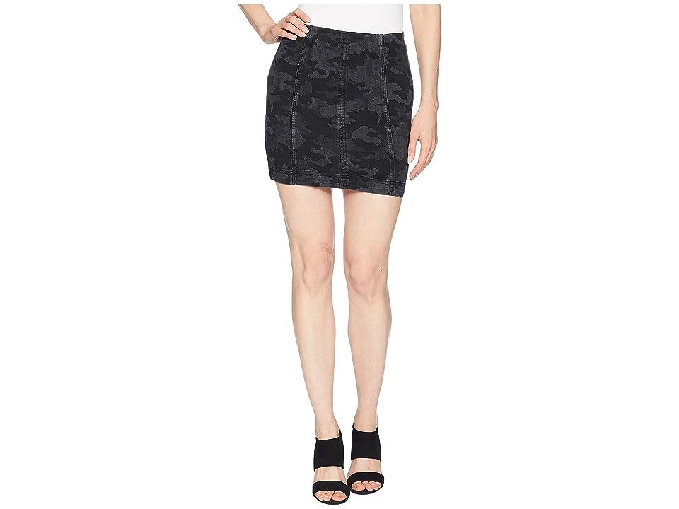 Free People Modern Femme Novelty Skirt (Black Combo) Women