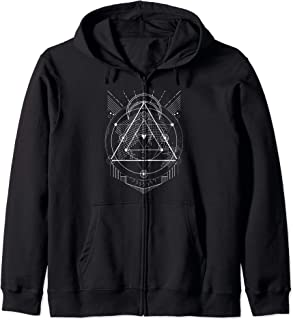 The Mighty Metatron Sacred Geometry Gift Designs Zip Hoodie