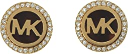 Michael Kors MK Logo Stud Earrings