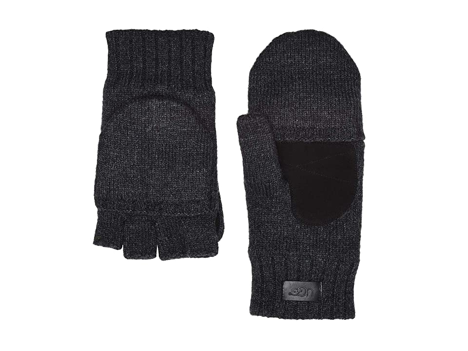 UGG Flip Knit Mitten (Graphite Heather) Over-Mits Gloves