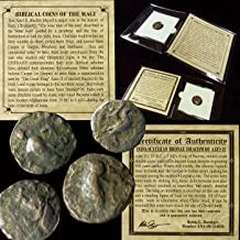 35 GR YOU GET ONE Ancient BIBLICAL COIN OF THE MAGI Persian Roman Bible Greek Jesus 35BC-5AD in mini folder with Certificate of Authenticity drachm from Good to Very Fine