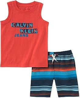 Calvin Klein Boys' 2 Pieces Muscle Top Shorts Set