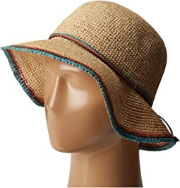Crochet Raffia Bucket with Contrasting