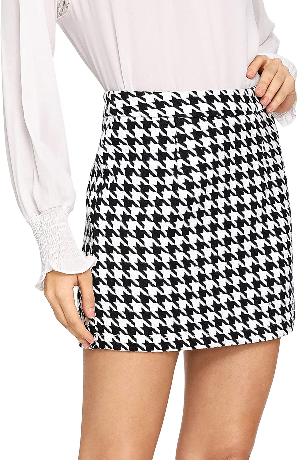 WDIRARA Women's Mid Waist Above Plaid Skirt Outlet ☆ Free Shipping Knee Mini Casual Ranking TOP9
