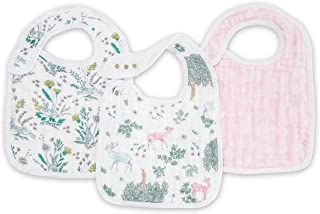aden + anais Forest Fantasy Snap Bibs 3 Pack, Multi, 3 Count