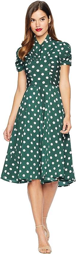 1940s Style Camilla Midi Dress
