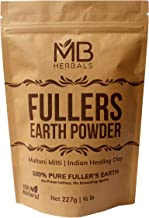 MB Herbals Fullers Earth Powder 227g | Half Pound | Fuller's Earth Powder | Multani Mud Mitti | Indian Healing Clay | Bent...
