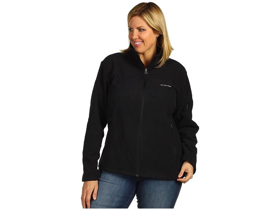 Columbia Plus Size Fast Trektm II Full Zip Fleece Jacket (Black) Women