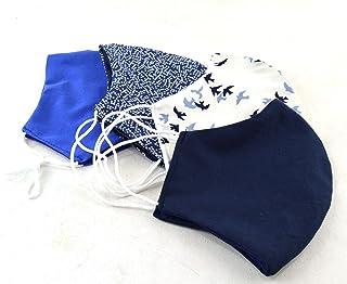 pack 4 accesorio de moda tapaboca de tela lavable, de bonitos estampados