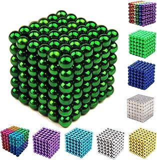 Yiteng 強力磁石 立体パズル おもちゃ 魔方 減圧 パズル マグネットボール ギフト プレゼント 5mm 216個/セット (Green)