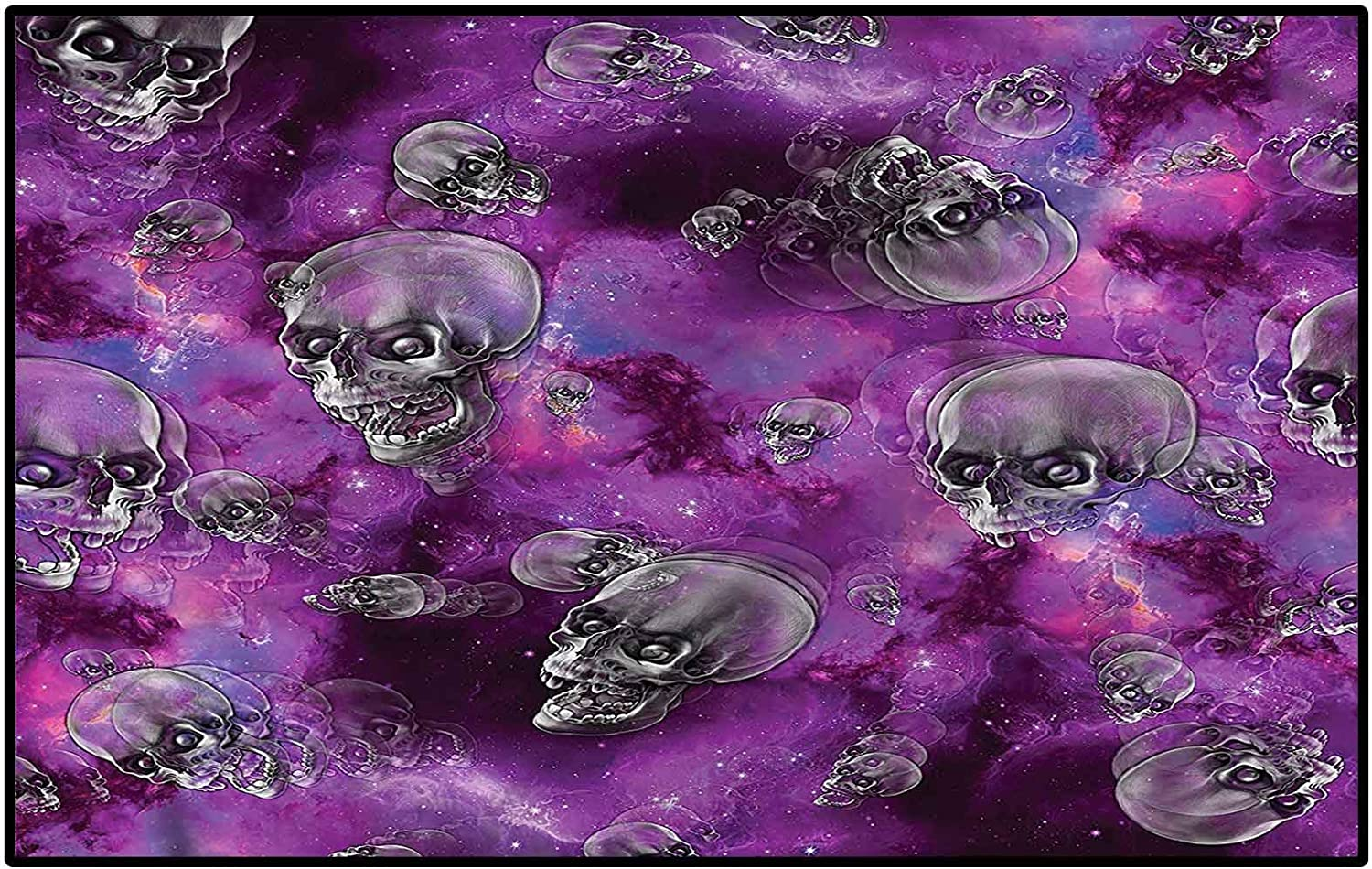 Bargain Skull Classroom Rugs 70% OFF Outlet Elementary Contemporary Area Halloween