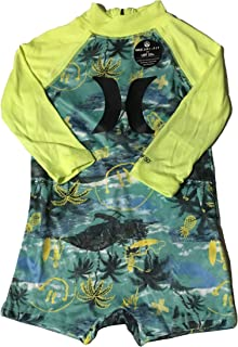 Hurley Infant Boys Rashguard Sun Protection Bodysuit Tropical Twist 12 Months