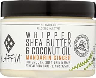 Alaffia Whipped Shea Butter & Coconut Oil Mandarin Ginger, 11 Ounce