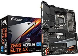 GIGABYTE Z590 AORUS ELITE AX (LGA 1200/ Intel Z590 ATX/ Triple M.2/ PCIe 4.0/ USB 3.2 Gen2X2 Type-C/ Intel WIFI 6/ 2.5GbE ...