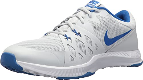 Nike Men's Air Epic Speed TR II Cross Trainer, Pure Platinum Hyper Cobalt, 6.5 D(M) US