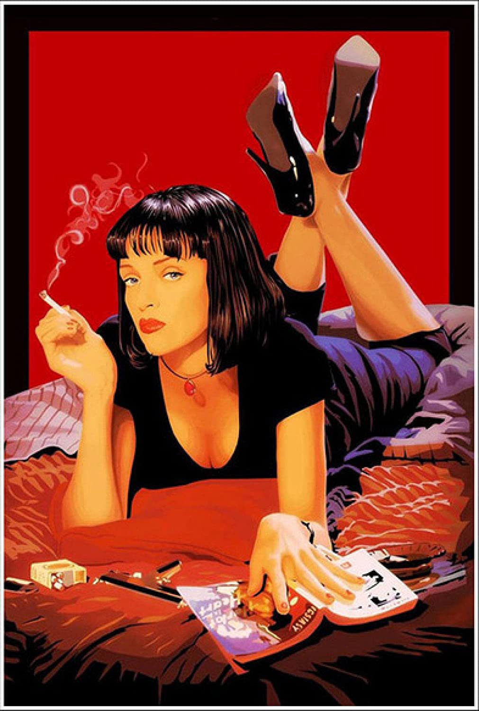 Liuqidong Leinwand Wandkunst Pulp Fiction Film Poster Druckgrafik ...