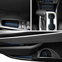Custom Fit Cup, Door, Console Liner Kit Accessories for Chevy Colorado and GMC Canyon 2020 2019 2018 2017 2016 2015 26pc (Crew Cab) (Blue Trim)