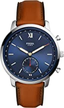 Fossil Men's Neutra Stainless Steel Hybrid Smartwatch, Color: Silver/Brown (Model: FTW1178)